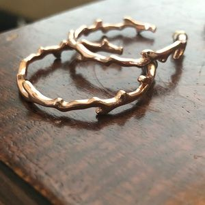 Stella and Dot rose gold hoops